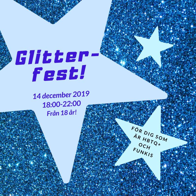 Hbtq-hängets Glitter-fest